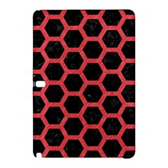 Hexagon2 Black Marble & Red Colored Pencil (r) Samsung Galaxy Tab Pro 12 2 Hardshell Case by trendistuff