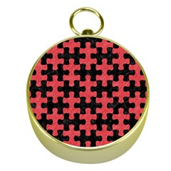 Puzzle1 Black Marble & Red Colored Pencil Gold Compasses by trendistuff
