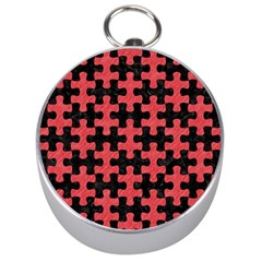 Puzzle1 Black Marble & Red Colored Pencil Silver Compasses by trendistuff