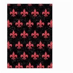 Royal1 Black Marble & Red Colored Pencil Large Garden Flag (two Sides)