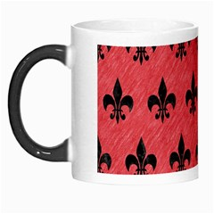Royal1 Black Marble & Red Colored Pencil (r) Morph Mugs by trendistuff