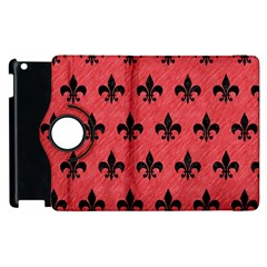 Royal1 Black Marble & Red Colored Pencil (r) Apple Ipad 3/4 Flip 360 Case by trendistuff