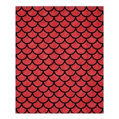 Scales1 Black Marble & Red Colored Pencil Shower Curtain 60  X 72  (medium)  by trendistuff