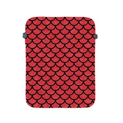 Scales1 Black Marble & Red Colored Pencil Apple Ipad 2/3/4 Protective Soft Cases