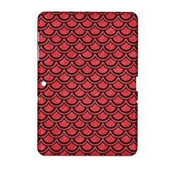 Scales2 Black Marble & Red Colored Pencil Samsung Galaxy Tab 2 (10 1 ) P5100 Hardshell Case  by trendistuff