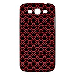 Scales2 Black Marble & Red Colored Pencil (r) Samsung Galaxy Mega 5 8 I9152 Hardshell Case  by trendistuff