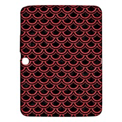 Scales2 Black Marble & Red Colored Pencil (r) Samsung Galaxy Tab 3 (10 1 ) P5200 Hardshell Case  by trendistuff