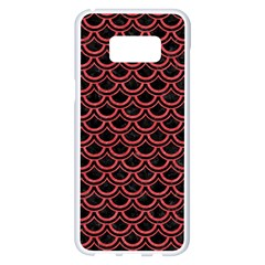 Scales2 Black Marble & Red Colored Pencil (r) Samsung Galaxy S8 Plus White Seamless Case by trendistuff
