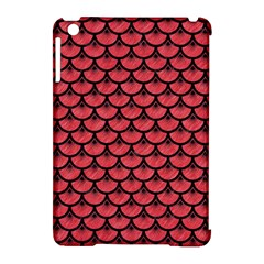 Scales3 Black Marble & Red Colored Pencil Apple Ipad Mini Hardshell Case (compatible With Smart Cover) by trendistuff
