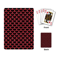 Scales3 Black Marble & Red Colored Pencil (r) Playing Card by trendistuff