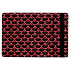 Scales3 Black Marble & Red Colored Pencil (r) Ipad Air 2 Flip by trendistuff