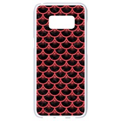 Scales3 Black Marble & Red Colored Pencil (r) Samsung Galaxy S8 White Seamless Case