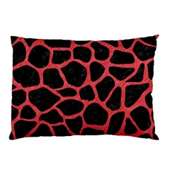 Skin1 Black Marble & Red Colored Pencil Pillow Case