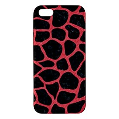 Skin1 Black Marble & Red Colored Pencil Iphone 5s/ Se Premium Hardshell Case by trendistuff