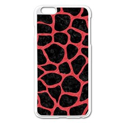Skin1 Black Marble & Red Colored Pencil Apple Iphone 6 Plus/6s Plus Enamel White Case by trendistuff