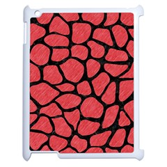 Skin1 Black Marble & Red Colored Pencil (r) Apple Ipad 2 Case (white) by trendistuff