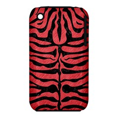Skin2 Black Marble & Red Colored Pencil Iphone 3s/3gs by trendistuff