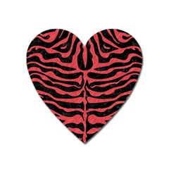 Skin2 Black Marble & Red Colored Pencil (r) Heart Magnet by trendistuff