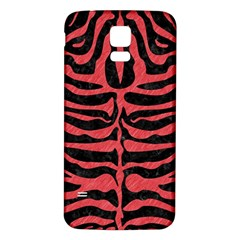 Skin2 Black Marble & Red Colored Pencil (r) Samsung Galaxy S5 Back Case (white) by trendistuff