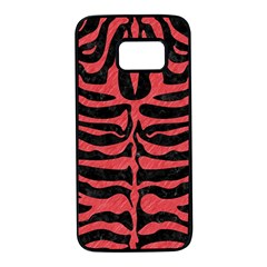 Skin2 Black Marble & Red Colored Pencil (r) Samsung Galaxy S7 Black Seamless Case by trendistuff