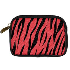 Skin3 Black Marble & Red Colored Pencil Digital Camera Cases by trendistuff