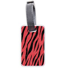 Skin3 Black Marble & Red Colored Pencil Luggage Tags (one Side)  by trendistuff