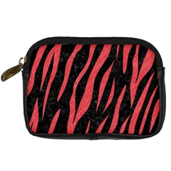 Skin3 Black Marble & Red Colored Pencil (r) Digital Camera Cases by trendistuff