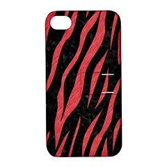 Skin3 Black Marble & Red Colored Pencil (r) Apple Iphone 4/4s Hardshell Case With Stand by trendistuff