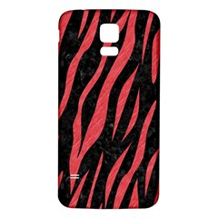 Skin3 Black Marble & Red Colored Pencil (r) Samsung Galaxy S5 Back Case (white) by trendistuff