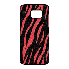Skin3 Black Marble & Red Colored Pencil (r) Samsung Galaxy S7 Edge Black Seamless Case by trendistuff