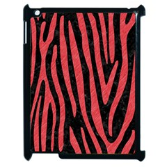 Skin4 Black Marble & Red Colored Pencil Apple Ipad 2 Case (black) by trendistuff