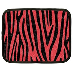 Skin4 Black Marble & Red Colored Pencil (r) Netbook Case (large) by trendistuff