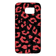 Skin5 Black Marble & Red Colored Pencil Galaxy S6 by trendistuff