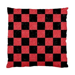 Square1 Black Marble & Red Colored Pencil Standard Cushion Case (two Sides)