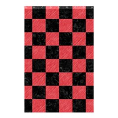 Square1 Black Marble & Red Colored Pencil Shower Curtain 48  X 72  (small)  by trendistuff
