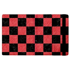 Square1 Black Marble & Red Colored Pencil Apple Ipad Pro 9 7   Flip Case by trendistuff