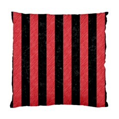 Stripes1 Black Marble & Red Colored Pencil Standard Cushion Case (two Sides)
