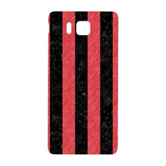 Stripes1 Black Marble & Red Colored Pencil Samsung Galaxy Alpha Hardshell Back Case by trendistuff