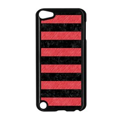 Stripes2 Black Marble & Red Colored Pencil Apple Ipod Touch 5 Case (black)
