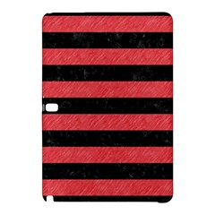 Stripes2 Black Marble & Red Colored Pencil Samsung Galaxy Tab Pro 12 2 Hardshell Case by trendistuff