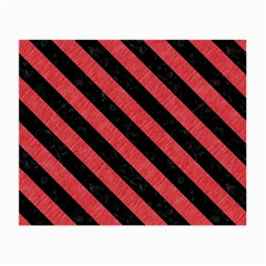 Stripes3 Black Marble & Red Colored Pencil Small Glasses Cloth by trendistuff