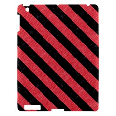 Stripes3 Black Marble & Red Colored Pencil Apple Ipad 3/4 Hardshell Case by trendistuff