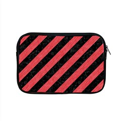 Stripes3 Black Marble & Red Colored Pencil (r) Apple Macbook Pro 15  Zipper Case by trendistuff