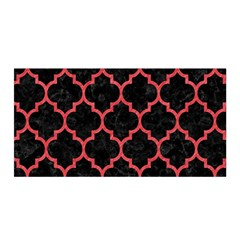 Tile1 Black Marble & Red Colored Pencil (r) Satin Wrap