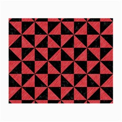 Triangle1 Black Marble & Red Colored Pencil Small Glasses Cloth by trendistuff
