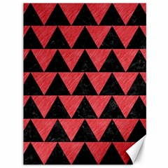 Triangle2 Black Marble & Red Colored Pencil Canvas 36  X 48   by trendistuff