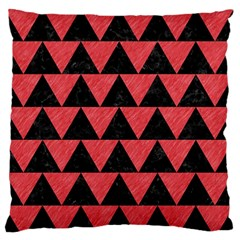 Triangle2 Black Marble & Red Colored Pencil Standard Flano Cushion Case (two Sides) by trendistuff