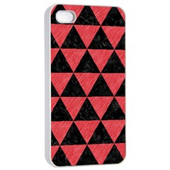 Triangle3 Black Marble & Red Colored Pencil Apple Iphone 4/4s Seamless Case (white) by trendistuff