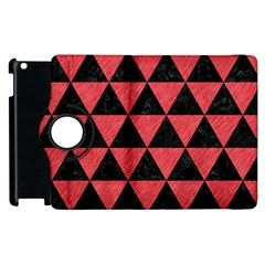 Triangle3 Black Marble & Red Colored Pencil Apple Ipad 2 Flip 360 Case by trendistuff