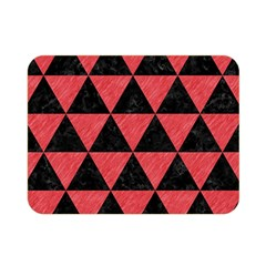 Triangle3 Black Marble & Red Colored Pencil Double Sided Flano Blanket (mini)  by trendistuff